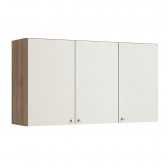 Armário Aéreo Delicatta 120Cm 3 Portas Nogal/off White Sensitive Thb - Mkp000627001461