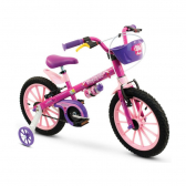 Bicicleta Aro 16 Top Girls Com Rodinhas - Nathor - Mkp000983000095