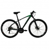 Bicicleta Aro 29 Preto/verde 21 Vel High One Revolution - Mkp000163000043