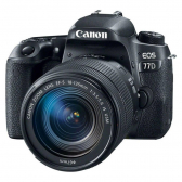 Câmera Dslr Eos 77D, 24.2Mp, 3´´, Wi-Fi + Kit Is Usm - Preto Canon - Mkp000335002814