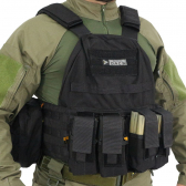 Colete Tatico - Plate Carrier - Preto - Tactical Dacs - Mkp000586000142