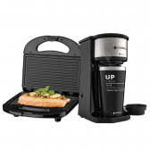 Kit Cafeteira Up To Go E Sanduicheira Minigrill Cadence 127V - Mkp000172001581