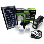 Kit Energia Emergencia Placa Solar Luminaria Gd-8017 - Mkp000936000023