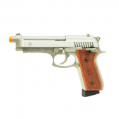 Pistola Airsoft Taurus Pt92 Hairline Silver Full Metal Co2 Gbb 6,0Mm - Cybergun Mkp000197002230
