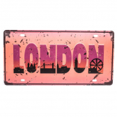 Placa De Carro Antiga Decorativa London Lorben Gt414-28 - Mkp000301000883