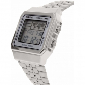 Relógio A500Wa-7Df Vintage Collection Prata Digital - Casio - Mkp000316000093